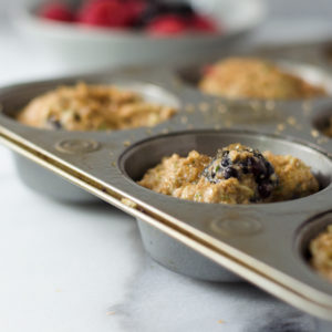 Mini Vegan Bran Cakes with Berries and Zucchini from www.sprinkledsideup.com