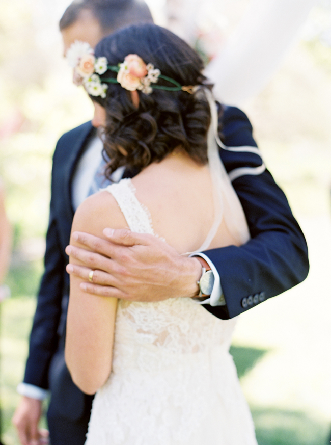 Spring garden wedding in Chapel Hill, NC
