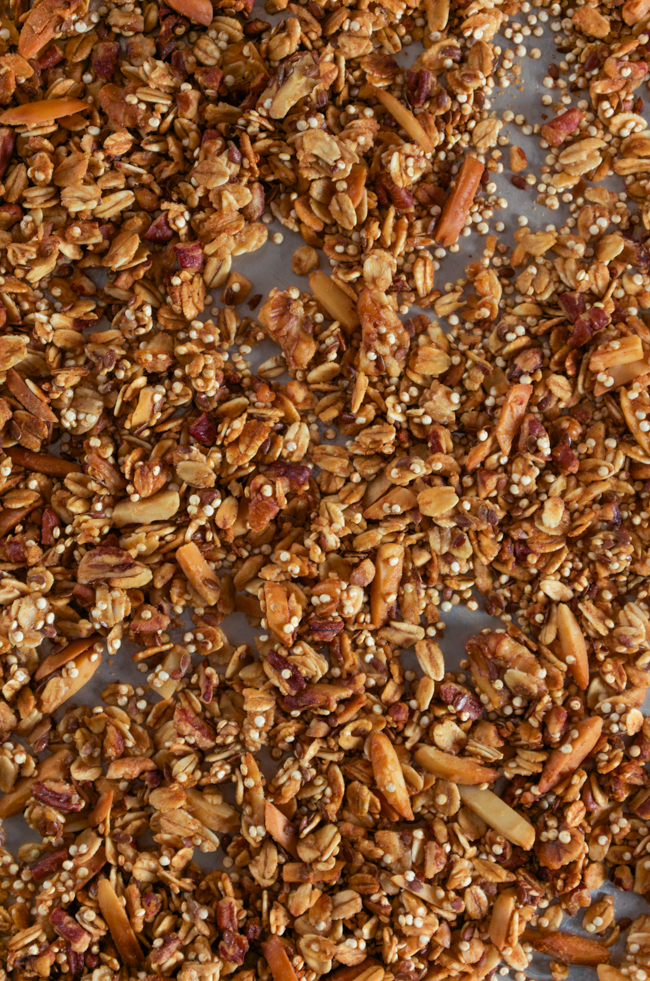 Honey Nut Quinoa Granola - easy, healthy and great for breakfast, brunch or an afternoon snack!!