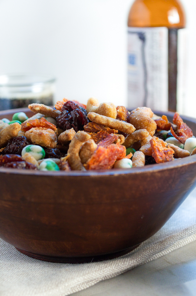 Salty, spicy, sweet Jerky Trail Mix from www.sprinkledsideup.com