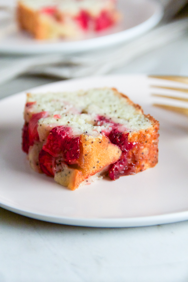 Mini Strawberry Poppyseed Cake with Ricotta and Lemon